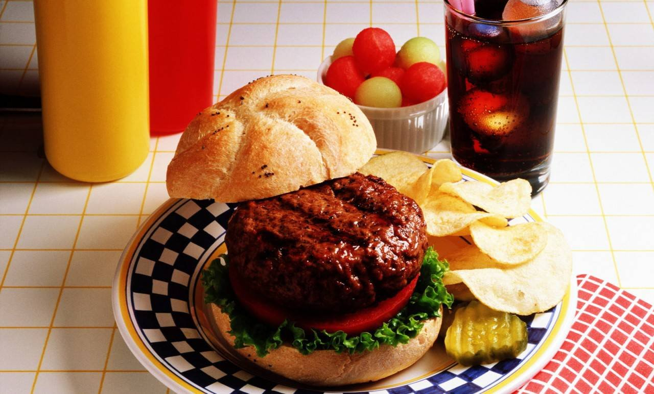 Ветчина гамбургер завтрак  № 2141591  скачать