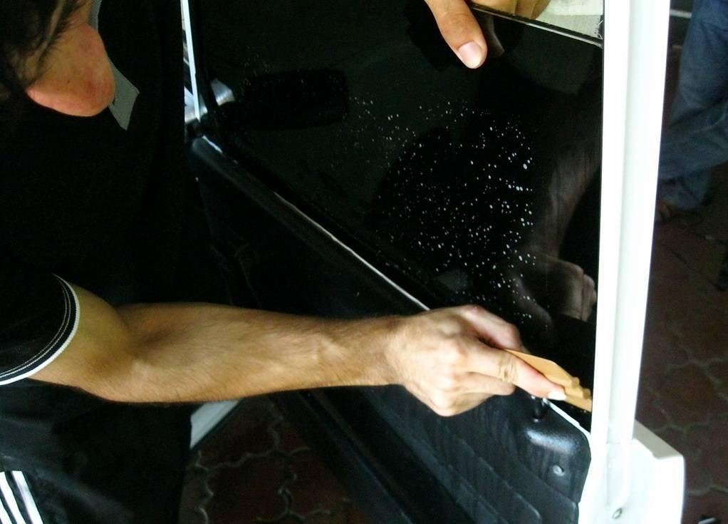Как тонировать стекла краской