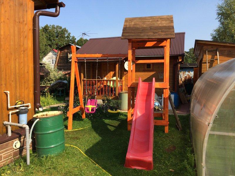 Как сделать детские площадки подручных материалов