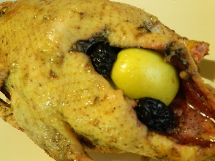 Утка с яблоками и черносливом в духовке пошаговый рецепт с в фольге