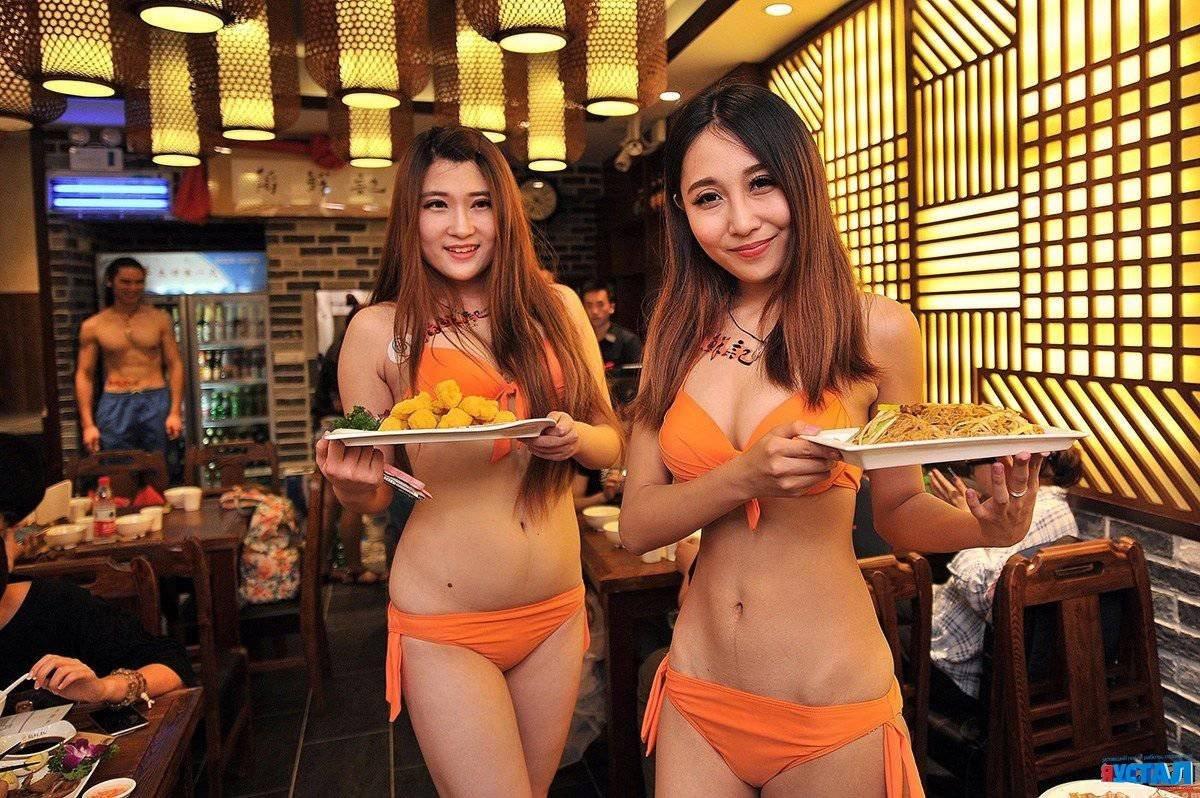 Клуб где голые официантки, секс с гимнасткой крупным планом
