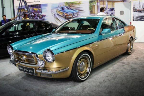 1447222112 na avtosalone v dubae predstavili rossiyskiy avtomobil bilenkin vintage 2