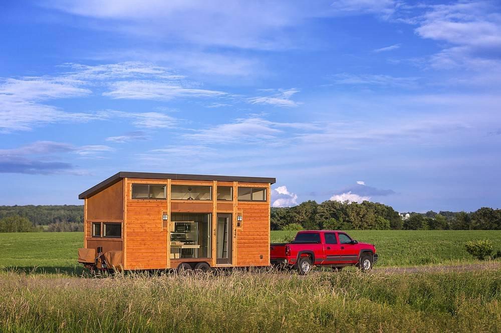 Мобильный домик, площадью всего 15 кв. метров