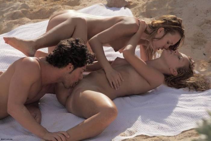 Пляже порно страстное на