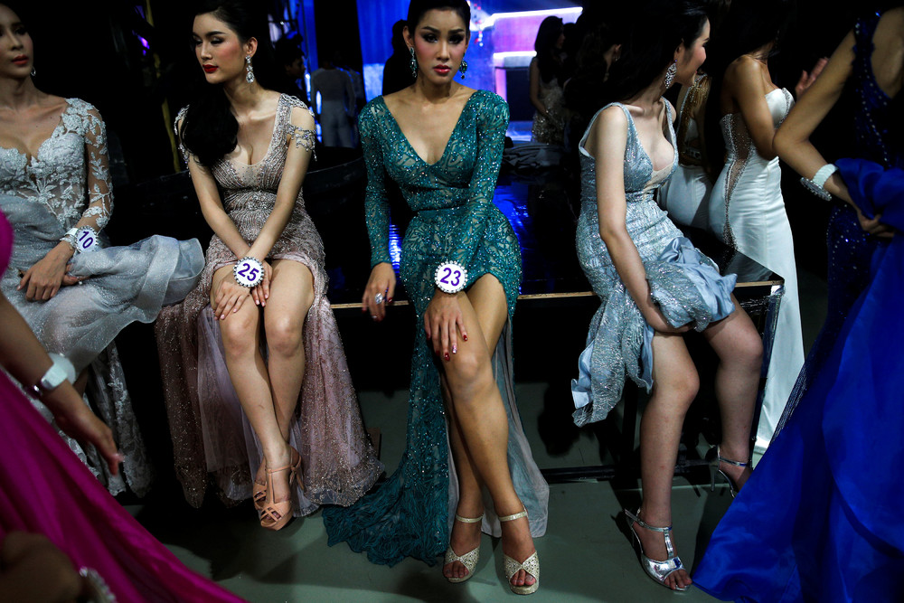 Thailand Transvestite Competition Miss Indonesia Chenny Han Editorial Stock Photo