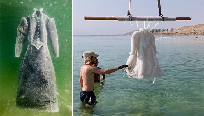 Как черное платье превратилось в соленую скульптуру на  ...