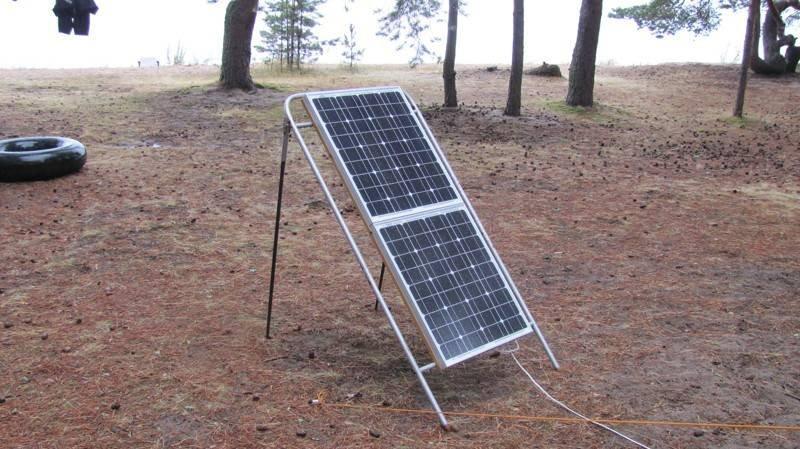 Переносная солнечная электростанция