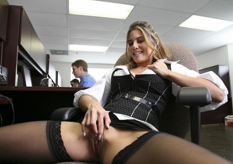 Office girl kristina rose gives hot upskirt seduces