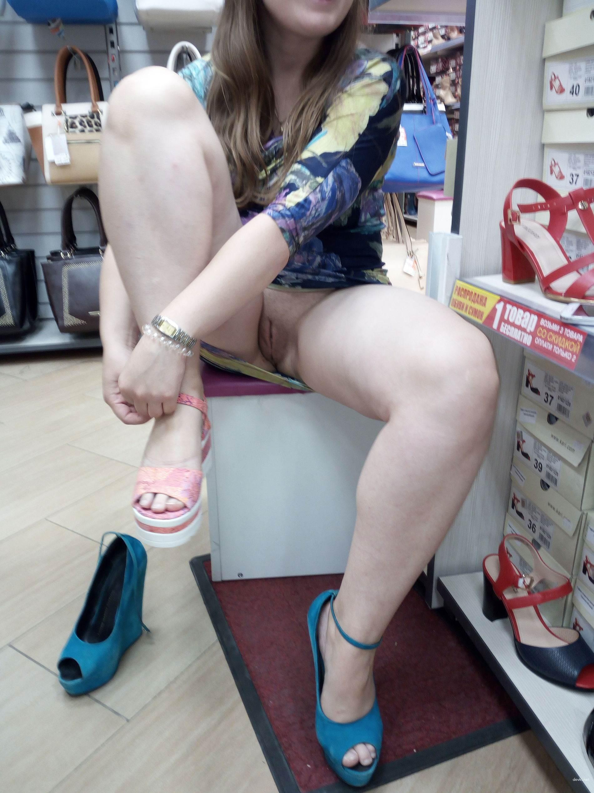 Shoe Store Upskirt
