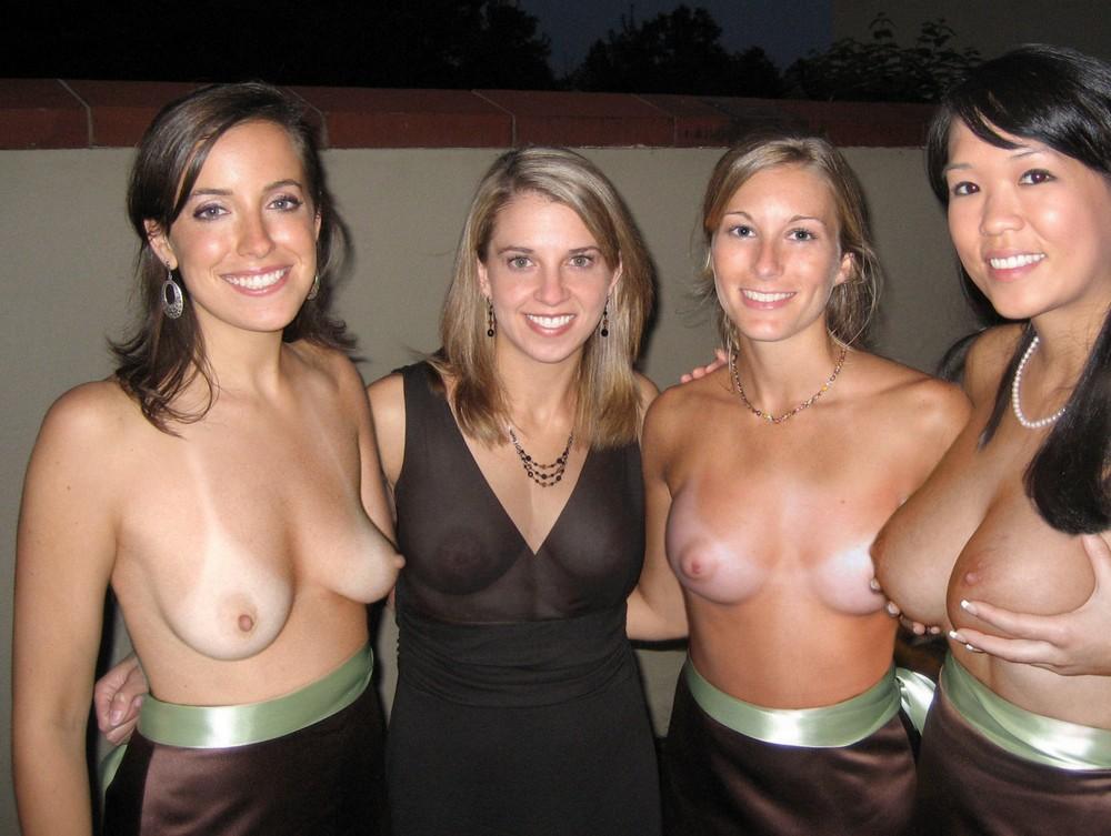 Girls Flashing Together