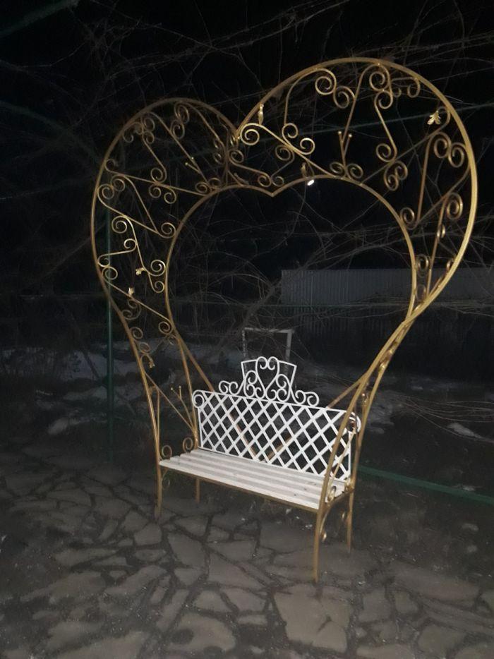 Лавочка в виде Сердца с элементами холодной ковки своими руками Как это сделано