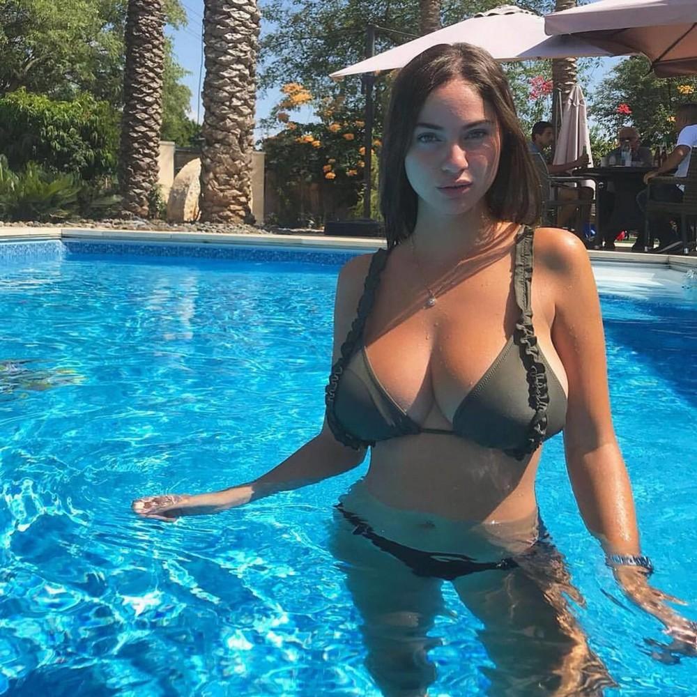 Love island star cassie lansdell stuns in underboob bikini