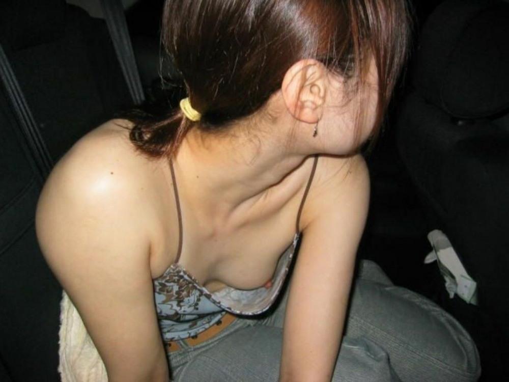 Downblouse girl nipple slip oops