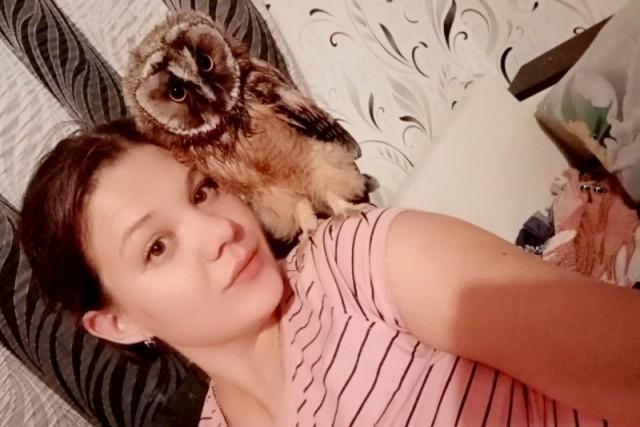 Как семья из Воронежской области приручила сову Животные