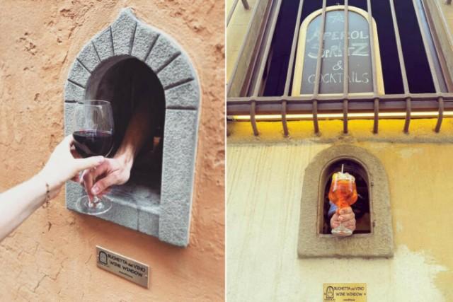 В Тоскане возродили чумную традицию. Теперь бары и рестораны продают напитки через средневековые «винные окна» С миру по нитке