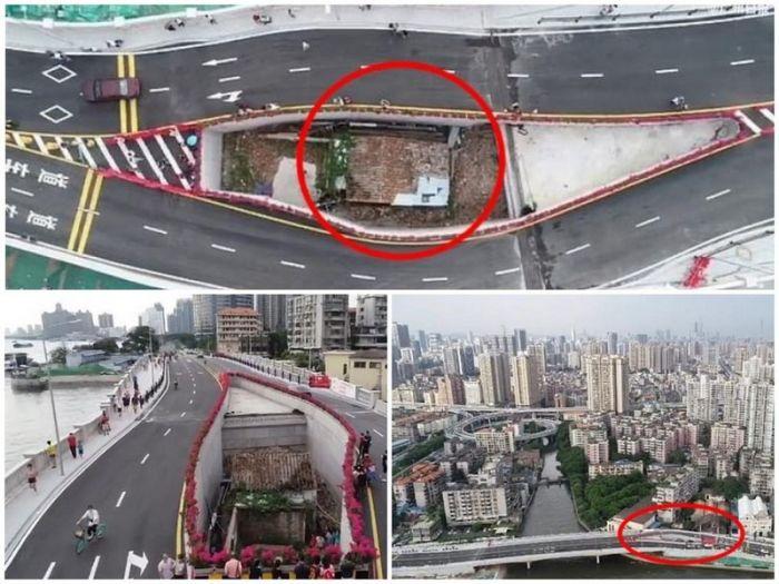 В Китае построили дорогу в объезд дома, хозяин которого в течение 10 лет отказывался переезжать С миру по нитке