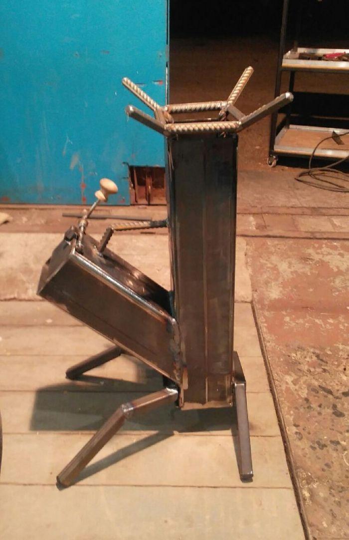 Печь ракетная для приготовления пищи Как это сделано