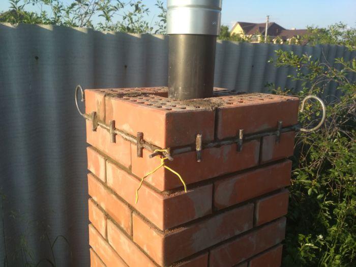 Приспособление для быстрой кладки кирпичных столбов  Как это сделано