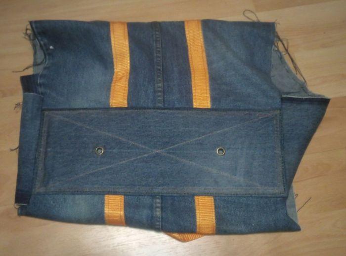 Хозяйственная сумка из джинсы Как это сделано