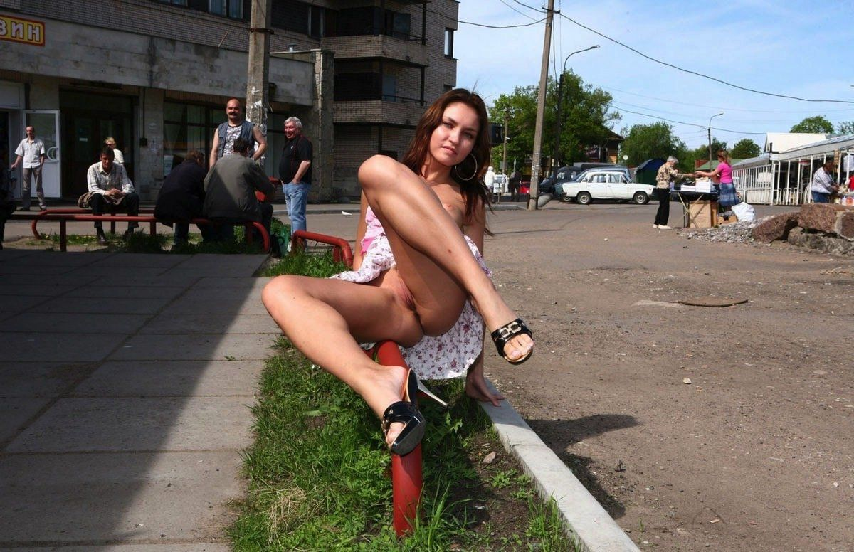 Luba Pissing On The Road Pissing Public Dirty