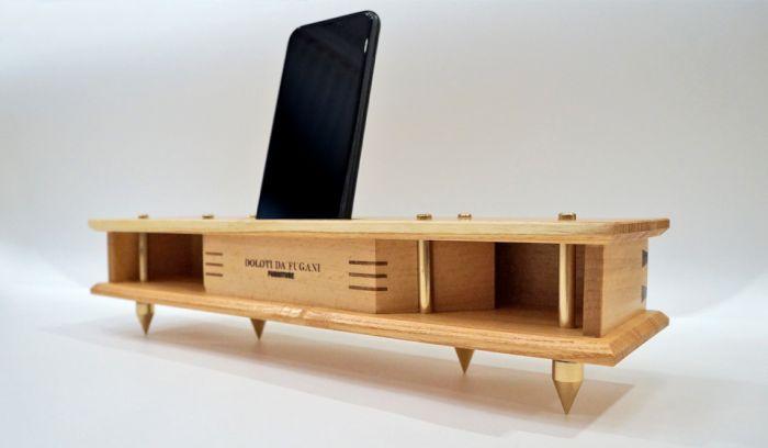 Динамик-подставка для мобильного телефона Как это сделано