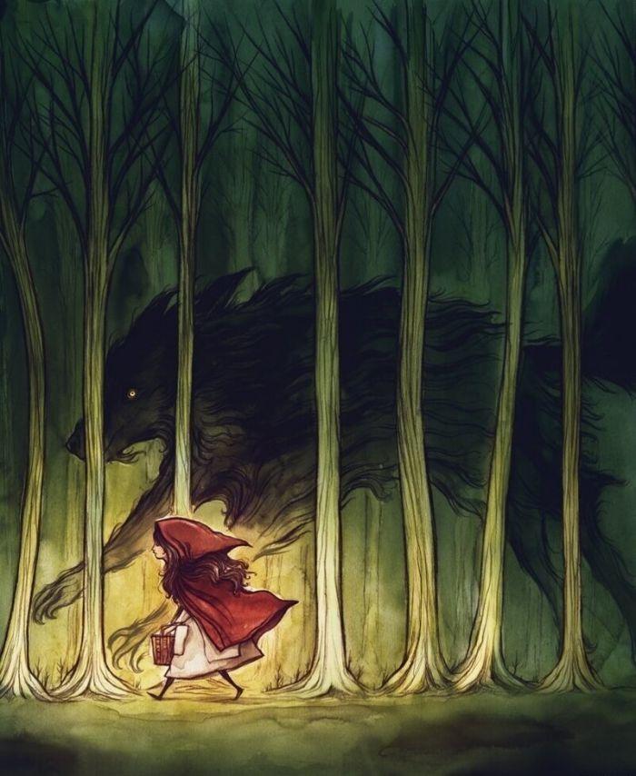 Первая версия «Красной Шапочки», с которой не все так однозначно С миру по нитке