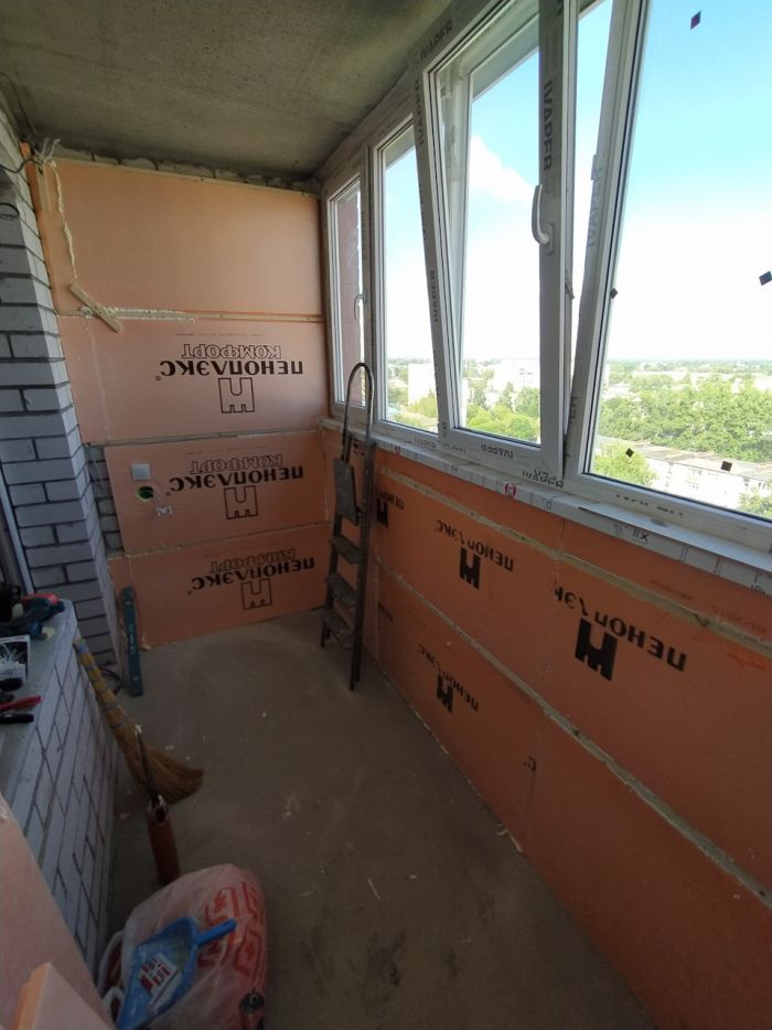 Отделка ламинатом и утепление балкона своими руками Как это сделано