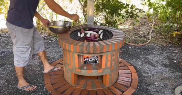 Как сделать печь-барбекю на участке Как это сделано